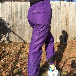 Vintage Women's Columbia Purple Teal Snow Pants M